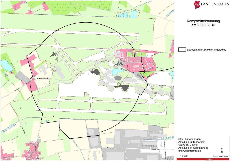 Hannover Evakuierung Karte