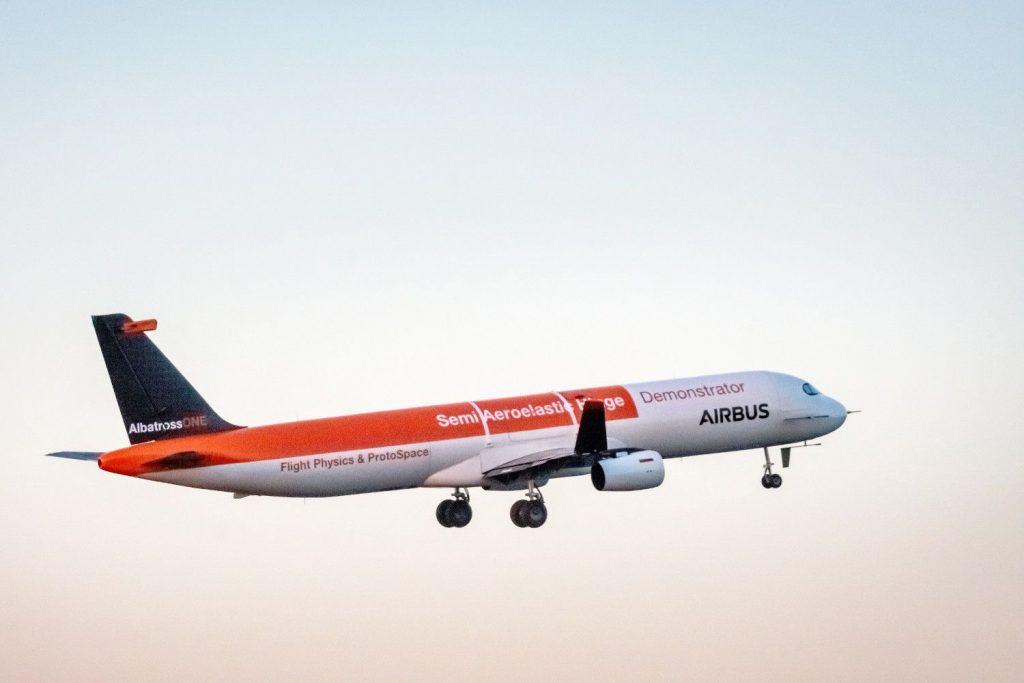 Airbus A321 Demonstrator: Klappbare Flügelspitzen im Test