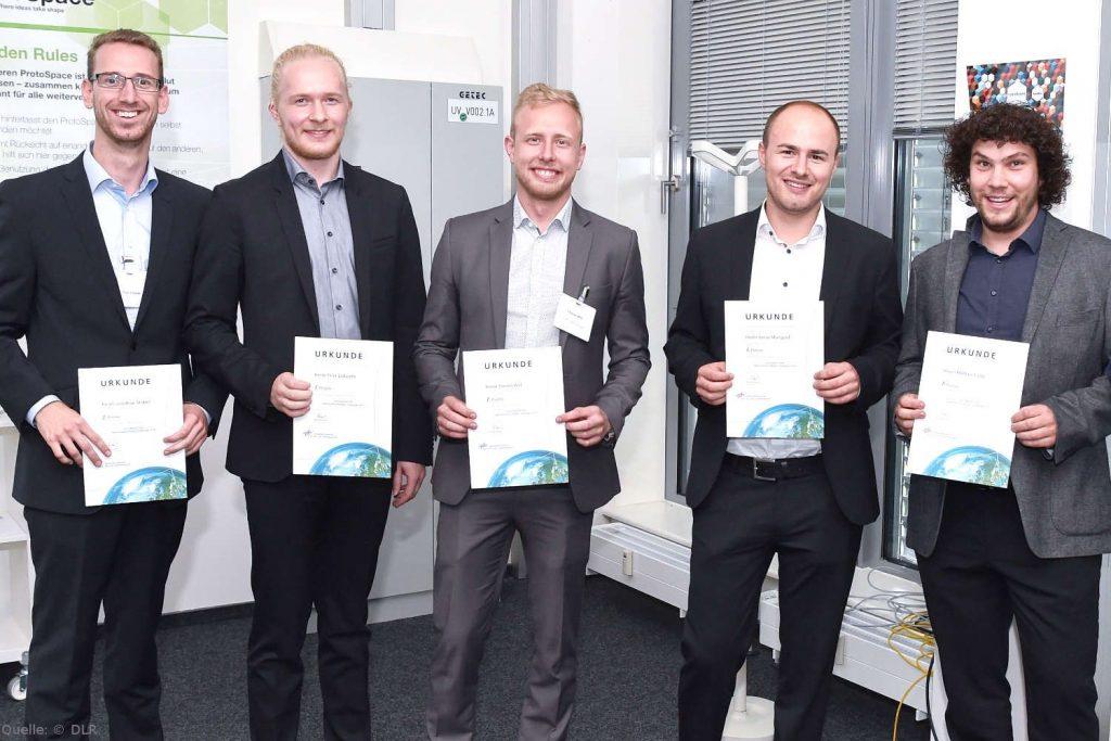 V.l.n.r.: Jonathan Stober, Felix Ladwein, Florian Will, Jonas Mangold und Michael Lang.