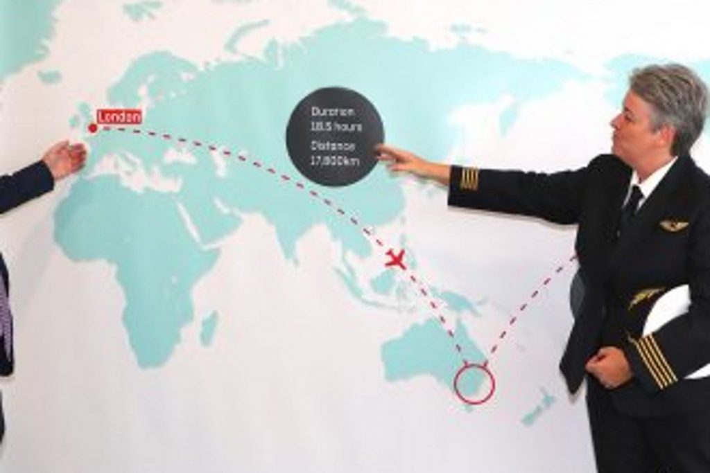 Qantas fliegt extremen Langstreckenflug: Sydney – New York