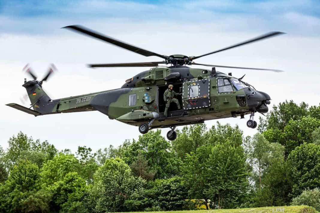 NH90 Instandhaltung durch Airbus und Elbe Flugzeugwerke