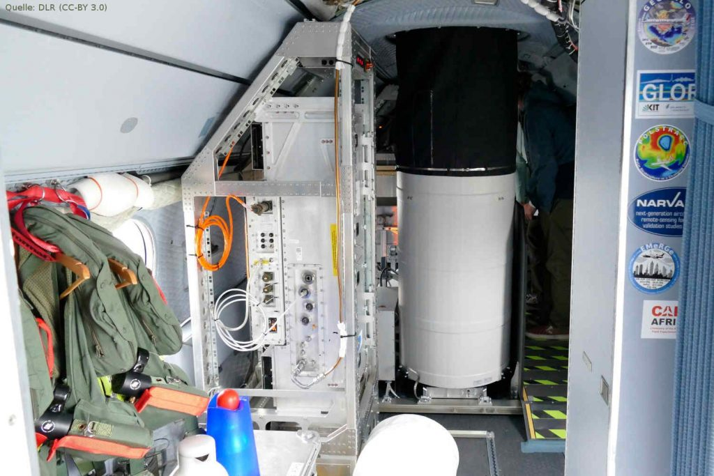 LIDAR-Messgerät ALIMA in der HALO-Kabine