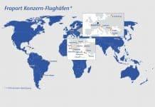 Fraport Konzern-Flughäfen verzeichnen wechselhaften Passagierzahlen im August