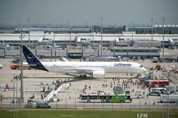 Lufthansa am Flughafen München