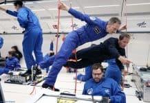 Matthias Maurer und Thomas Pesquet: Matthias Maurer zusammen mit seinem französischen ESA-Astronautenkollegen Thomas Pesquet. Pesquet ist auch Pilot im A310 ZERO-G.