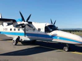 Forschungsflugzeug Do 228 D-CODE: Das universelle Forschungsflugzeug Do 228 D-CODE wird vom DLR unter anderem zur Fernerkundung eingesetzt.