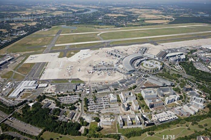 Flughafen Düsseldorf Luftaufnahme