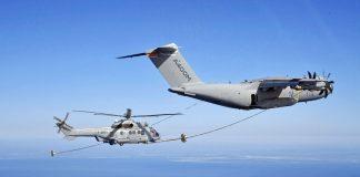 Airbus A400M Tankflugzeug betankt H225M und H160