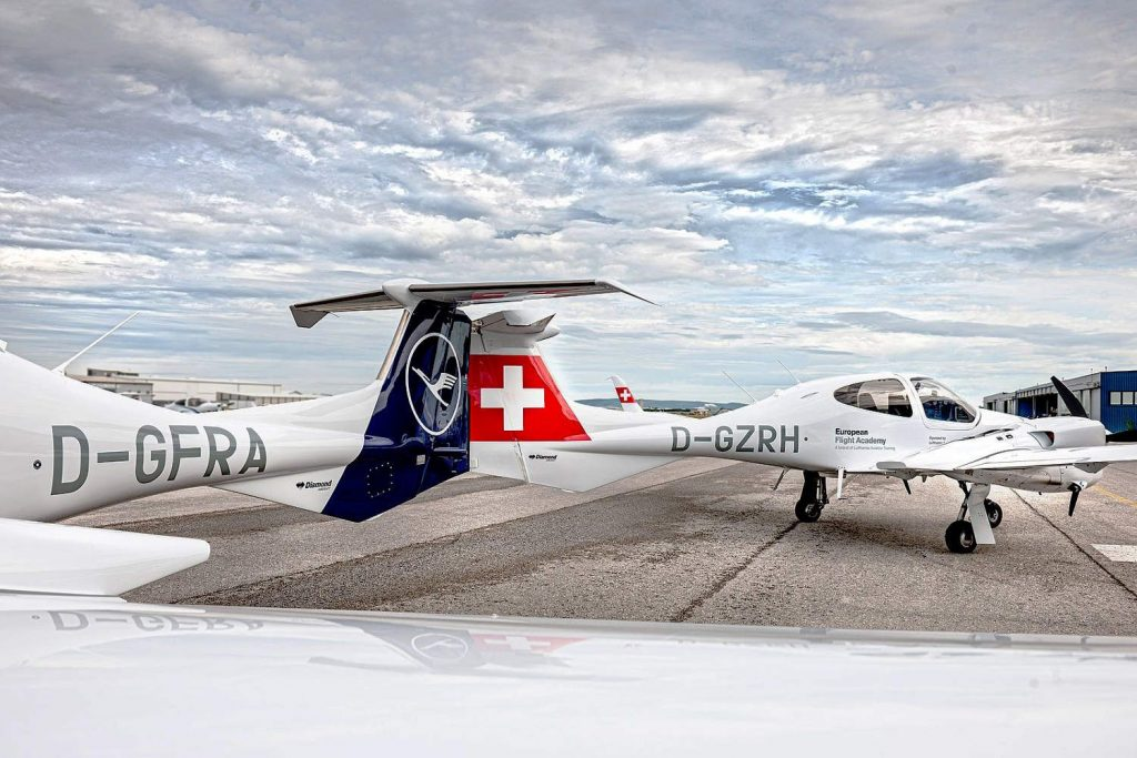 Lufthansa Aviation Training flottet neue Diamond DA42 ein