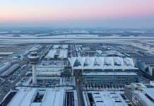 Flughafen München im Winter