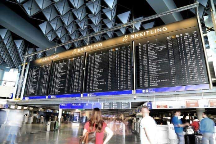 Flugterminal am Flughafen Frankfurt