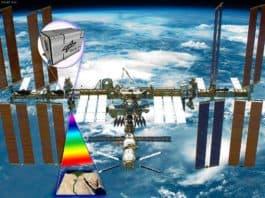 Künstlerische Darstellung von DESIS auf der ISS.