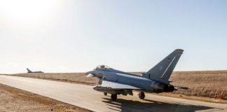 """Deutsche Eurofighter Kampfflugzeuge bei der """"Blue Flag"""" Übung in Israel"""