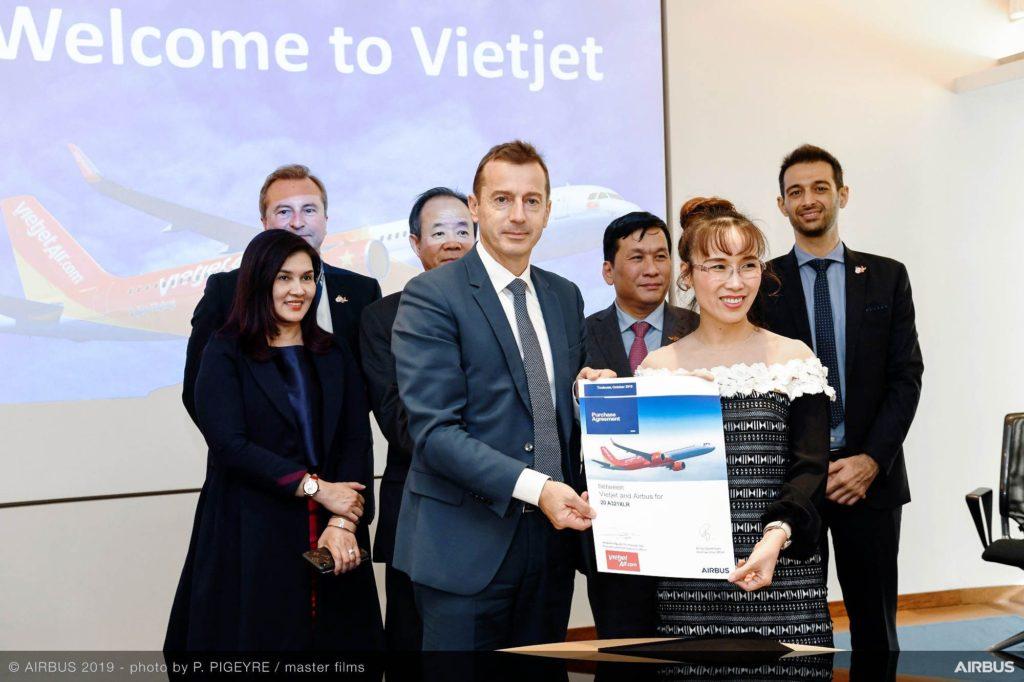Vietjet bestellt 15 A321XLR und Schulung von Airbus