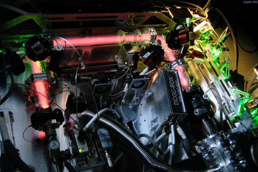 Mit dem Plasmakristall-Labor PK-4 sollen physikalische Grundlagen komplexer, dreidimensionaler Plasmen erforscht werden.