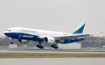 Boeing 777 ecoDemonstrator aus Seattle zu Besuch in Frankfurt