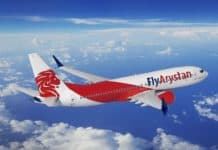 Low-cost Airline FlyArystan fliegt Boeing 737 MAX 8