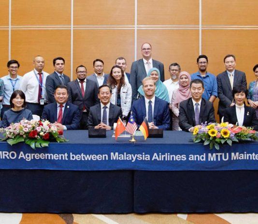 MTU Maintenance und Malaysia Airlines Berhad haben einen Vertrag für die mehr als 100 Triebwerke des Typs CFM56-7B der Fluglinie unterzeichnet.