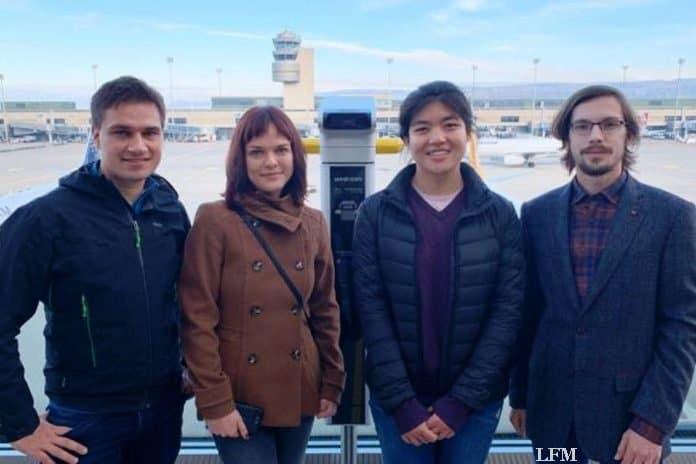 Die Studierenden rund um Dr. Martin Oswald (links): Anastasia Sycheva, Shanshan Huang, Christian Scherer (v.r.n.l.), nicht auf dem Foto: Patric Larsen-Ledet.