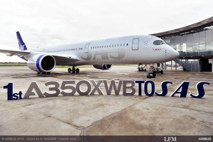 SAS übernimmt ihren ersten Airbus A350 XWB