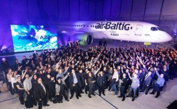 100. Airbus A220 Jet aus Kanada für airBaltic bestimmt