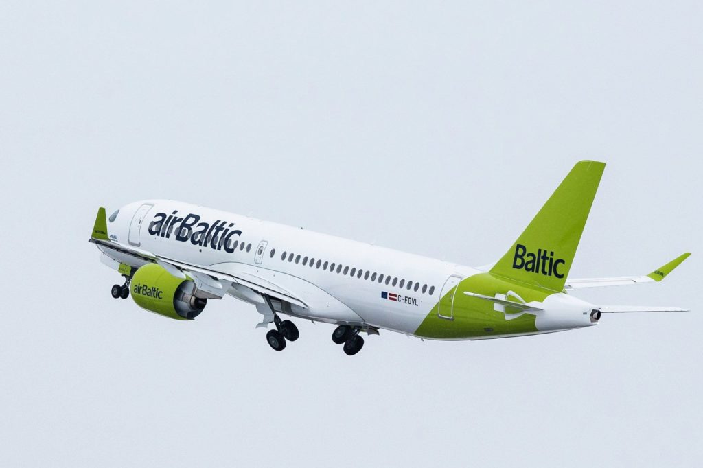 Airbus A220 Jet für airBaltic