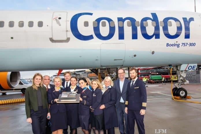 Condor feiert Passagierekord in Hamburg
