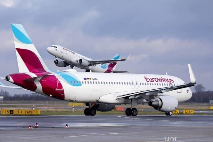 Eurowings hält Rekord für Pünktlichkeit
