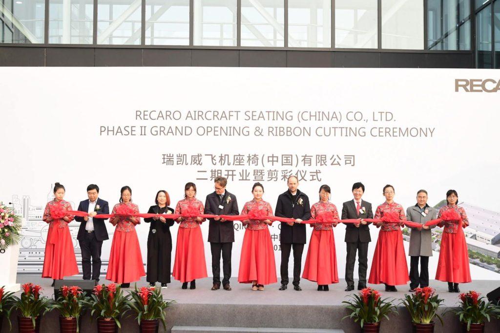 Recaro weiht neue Produktionsanlage für Flugzeugsitze in China ein