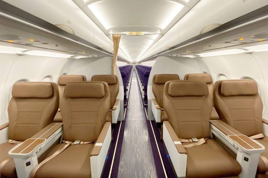 Airbus A320neo der Juneyao fliegt mit Recaro