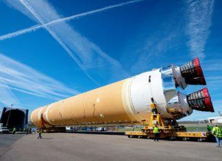 Boeing liefert Space Launch System Hauptstufe an NASA