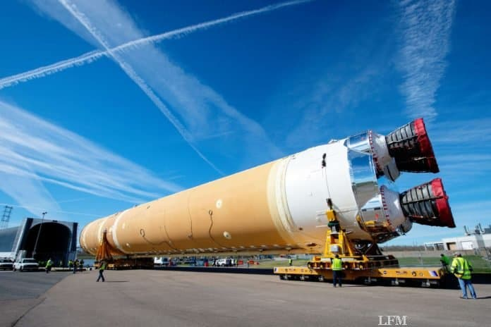 Boeing liefert Space Launch System Hauptstufe an NASA