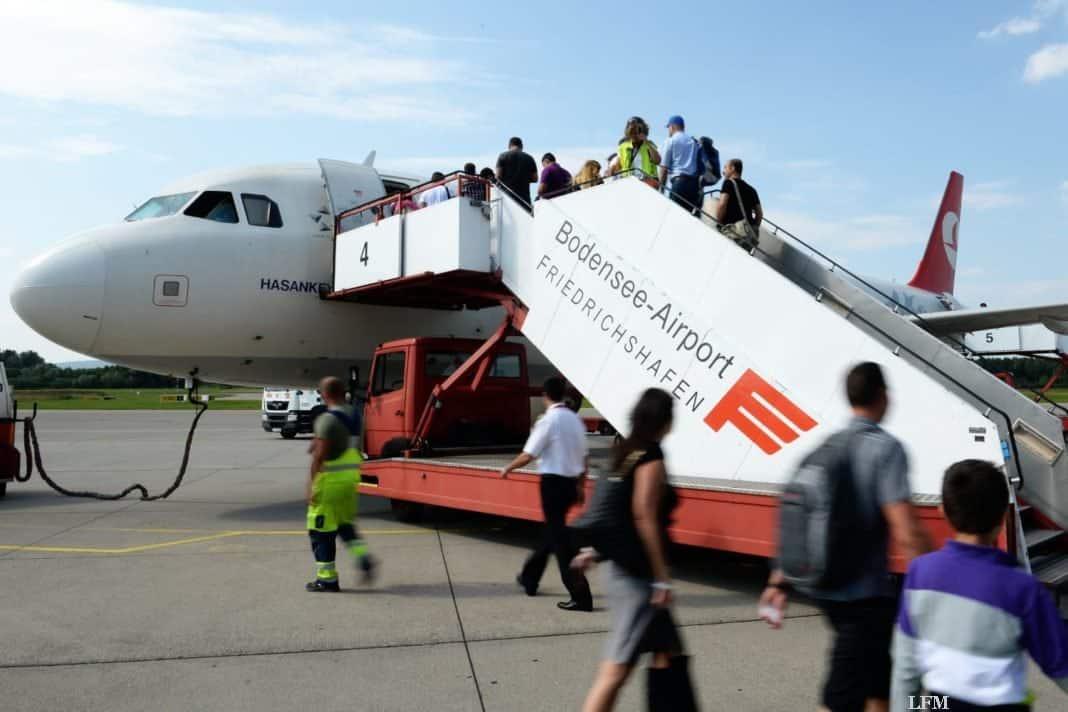 Flughafen Friedrichshafen: Passagierrückgang gedämpft