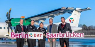 DAT fliegt innerdeutsch von Berlin nach Saarbrücken