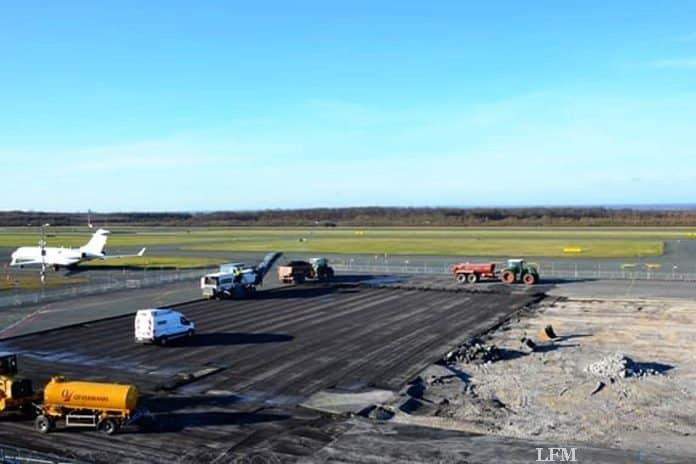 Bau am PAD: Flugzeuge am Vorfeld neu positioniert