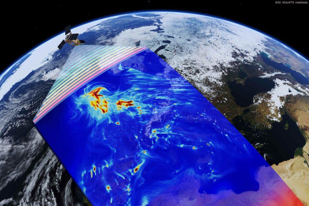 Copernicus – kontinuierliche Umweltüberwachung: Die deutsche Bundesregierung hat am 13. September 2017 eine nationale Copernicus-Strategie für Deutschland beschlossen. Das Copernicus-Programm der Europäischen Union hilft dabei, diese und weitere Klima- und Umweltfragen zu beantworten. Es stellt umfassende Informationen über den Zustand der globalen Umwelt auf Basis von Satellitenbeobachtungen der Erde bereit und unterstützt vielfältige Anwendungen von der Klimabeobachtung über die Land- und Forstwirtschaft bis hin zur Katastrophenhilfe.