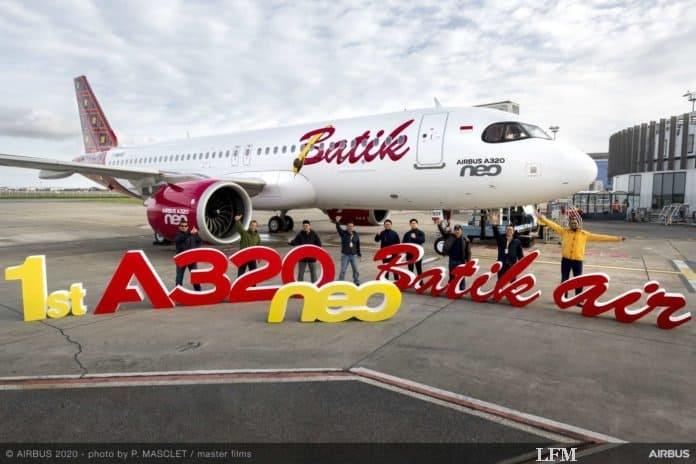 Airbus A320neo erstmals bei Batik Air eingeflottet