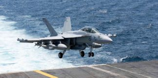 F-18 Super Hornet als EA-18G Growler im Drohneneinsatz