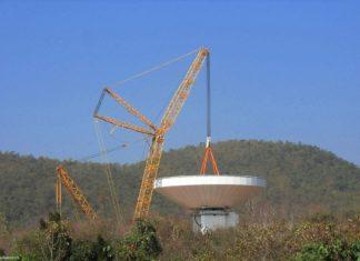 Big Lift für 40-Meter-Radioteleskop in Chiang Mai