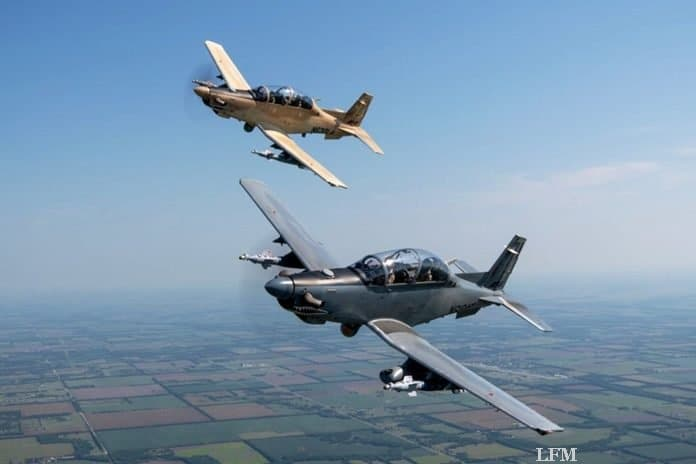 Beechcraft liefert AT-6 Wolverine an US-Air Force