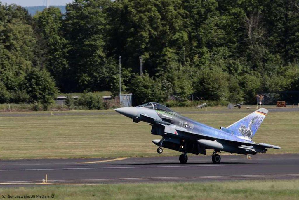 Eurofighter mit Sonderfolierung