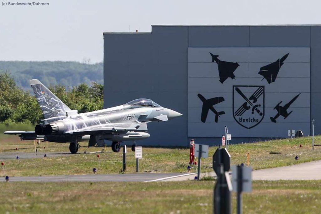 """Eurofighter fliegt mit Sonderfolierung """"Sword of Boelcke"""""""