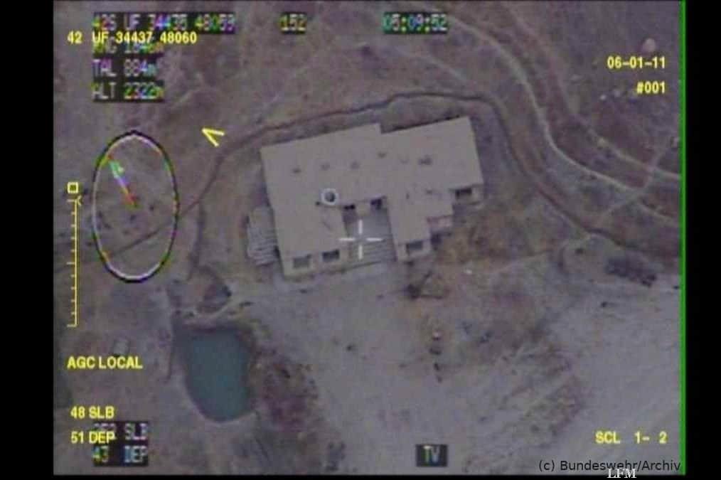 Drohne Heron TP macht im Einsatzgebiet Bilder aus großen Höhen