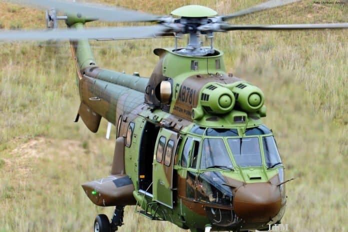 Super Puma H215 bei einer Übung