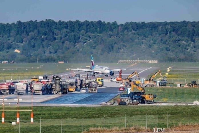 Flughafen Stuttgart: Komplette Runway wieder frei