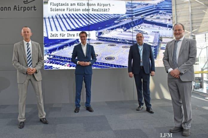 NRW-Verkehrsminister Hendrik Wüst MdL besuchte den Airport, um sich über die Ergebnisse zu informieren