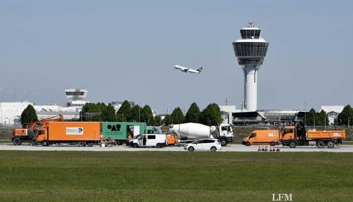 Flughafen München, nördliche Start- und Landebahn saniert