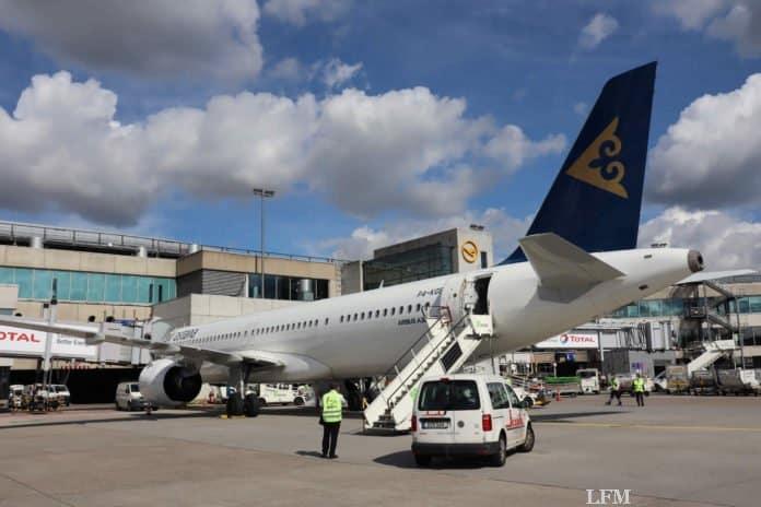 Air Astana A321LR am Flughafen Frankfurt