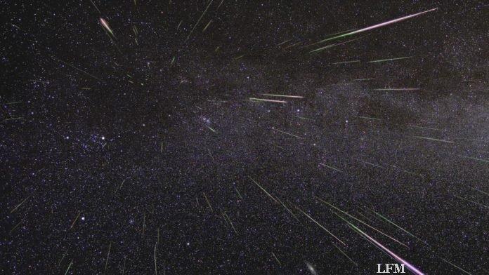 Maximum der Perseiden-Meteore im August