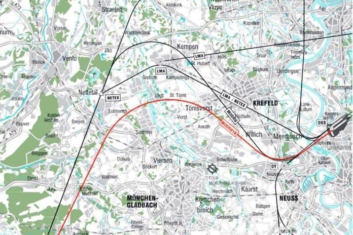 Verbesserte Abflugroute durch RNP ab Düsseldorf